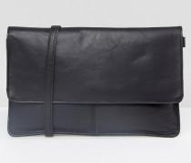 Umhängetasche aus Leder Schwarz