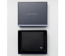 Eton Kleine Brieftasche aus schwarzem Leder Schwarz