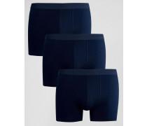 Marineblaue Unterhosen, 3er Pack Marineblau