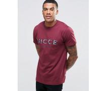 T-Shirt mit gesticktem Logo Rot