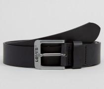 Levi's Klassischer Ledergürtel in Schwarz Schwarz