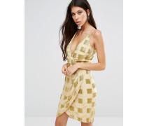 Aimee Vorne gerafftes Kleid Gelb