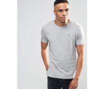 T-Shirt mit Logo Grau
