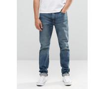 Levi's 522 Schmale, zulaufende Jeans in mittlerer Ice Pick Used-Waschung Blau