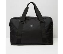 Schwarze Reisetasche mit Aufnäher Schwarz