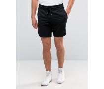 Sweat-Shorts aus unterschiedlichen Materialien Schwarz