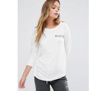 Jack Willls Fernhill Langärmliges Raglan-T-Shirt Weiß