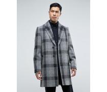 Mantel aus Harris Tweed in Grau kariert Grau