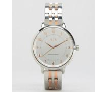 AX5370 Armbanduhr im Metallmix Mehrfarbig