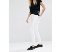 Body Superenge Jeans mit hohem Bund und Stretchanteil Weiß