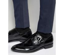 Monk-Schuhe aus schwarzem Leder Schwarz