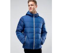 Wattierte Jacke mit Kapuze Blau