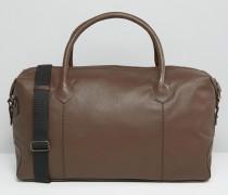 Braune Reisetasche aus Leder Braun