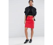 Minirock aus Sweatshirtstoff mit Tasche Rot