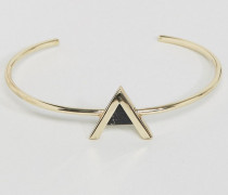 Armreif mit dreieckigem Stein Gold