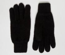 Handschuhe aus Wolle Schwarz