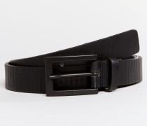 Schmaler Ledergürtel Schwarz