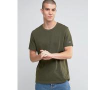 T-Shirt mit kleinem Logo Grün