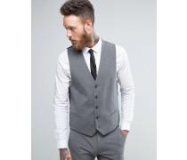 Graue Anzugweste in schmaler Passform Grau