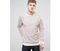 Brooklyn Supply Co Sweatshirt mit Bretonstreifen Cremeweiß