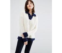 Pullover im Marine-Look Cremeweiß