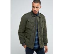 Military-Jacke mit gestepptem Detail Grün