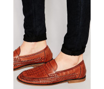 Gewebte Loafer in Hellbraun Bronze