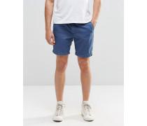 Shorts mit Waschung Blau
