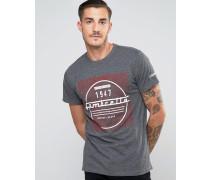 T-Shirt im Distressed-Look Grau