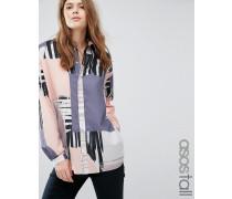Oversize-Hemd mit abstraktem Print Mehrfarbig