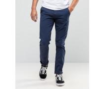 Twister Schmale blaue Jeans mit Overdye-Effekt Marineblau