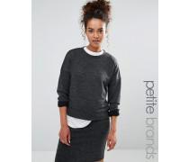Kurzes Sweatshirt Grau