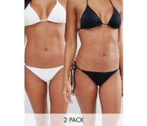 Multipack Bikinihosen mit seitlicher Schnürung Mehrfarbig