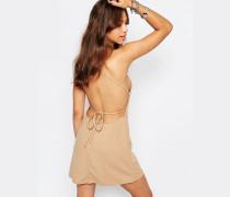 Winnie Hinten gebundenes Kleid Bronze