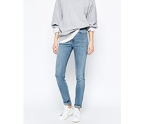 Thursday Skinny Jeans mit hoher Taille Blau
