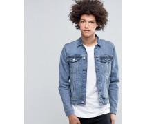 Basic-Jeansjacke in Blue Rock Blau