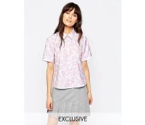 Le Kilt for Hemd mit Lippenprint Mehrfarbig