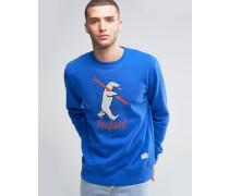 Ski Bear Blaues Sweatshirt mit Rundhalsausschnitt Blau