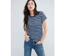 Levi's Das perfekte gestreifte T-Shirt mit Tasche Blau