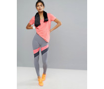 Mirror Leggings mit Streifen Grau