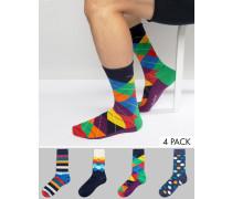 HappySocks 4 Paar Socken als Geschenkset Mehrfarbig