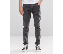 Wednesday Schmale Jeans in Schwarzer Erde Schwarz