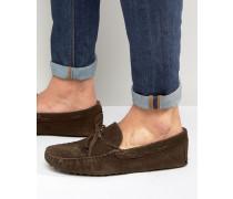 Driver-Schuhe aus braunem Wildleder Braun