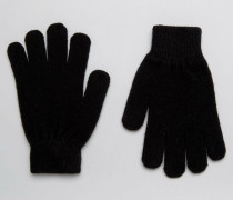2 Pack Soft Gloves Schwarz
