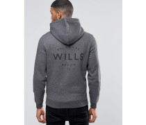 Kapuzenpullover mit Wills-Logo in Anthrazit Grau
