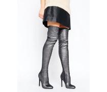 KAMBER Overknee-Stiefel aus elastischem Material Mehrfarbig
