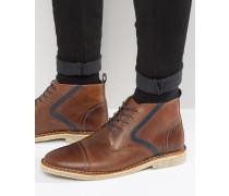 Stiefel aus braunem Leder Braun