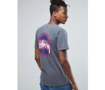 T-Shirt in Overdye-Optik mit Rücken-Print Schwarz