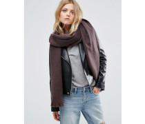 Langer gewebter Oversize-Schal in zweifarbigem Design Braun