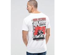 T-Shirt mit Cartoon-Print hinten Weiß